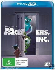 MONSTERS, INC. Blu-Ray 3D : NEW