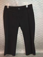 Massimo Stretch Black Dressy Capri Pants Women's 8 (c21)