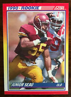 1990 Score JUNIOR SEAU (RC) ~ 20 CARD LOT ~  USC / SAN DIEGO CHARGER  HOF