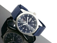 SEIKO 5 SNZG11 SNZG11J1 Army Nylon Japan Made Navy Free Ship