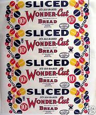 Wonder Cut NRA Wax Paper Bread Wrapper Heydt St Louis