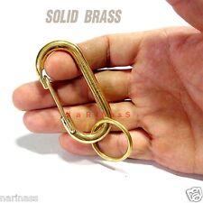 "KEYCHAIN CARABINER(Solid Brass) Key ring 2.50"" C/m (#130)"