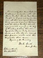 Antique St. Maria's Ref Church East Hanover Dauphin Co Pennsylvania Letter 1863