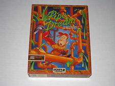 Pipe Dream (Amiga, 1989) Rare Game, Lucasfilm, Big Box