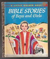 Vtg 60s Little Golden Children Book Bible Stories of Boys and Girls G Edition Fn
