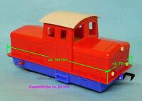 Lehmann (später LGB),etwa 1 : 45,Diesellok aus Lok-Trainer 1500,rot,Gummireifen