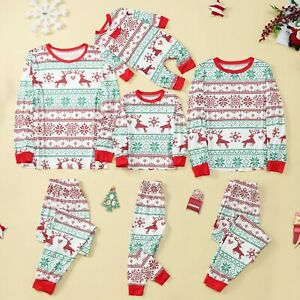 Christmas Pyjamas Women Men Kids Xmas Family Matching Nightwear PJs Sets UK