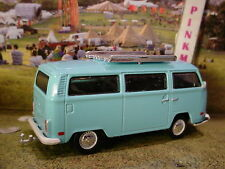 Greenlight 1972 VOLKSWAGEN TYPE 2 with Hitch✰light blue✰Limited Edition✰S8✰1/64