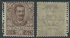 1901 REGNO FLOREALE 40 CENT MH * - P49-7