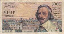 1000 FRANCS RICHELIEU 3-2-1955 TB