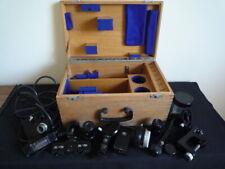 Lente Microscopio objetivo Raro CARL ZEISS & equipo quirúrgico en Caja Set