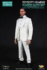 TOYS CITY Mens Tuxedo Suits Set White Color 1/6 USA SHIPPING