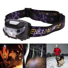 LED Motion Sensor Headlamp Headlight USB Rechargeable Head Light Flashlight