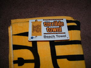 """MYRON COPES OFFICIAL GOLD TERRIBLE TOWEL BEACH TOWEL 30"""" x 60"""" inches NEW"""
