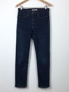 LEVIS 312 Shaping Slim Dark Blue Stretch Mid Rise Straight Leg Jeans W28 L32