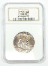 1959 Franklin Half Dollar CERTIFIED NGC MS 66 Silver 50c
