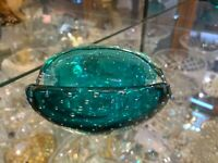 20th Century Vintage  Murano Marine Glass Bowl