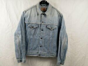 Vintage Levi's  Blue Light Wash Denim Jeans Size XL TruckerJacket 70550 04
