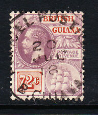 BRITISH GUIANA 1913-21 72c PURPLE & ORANGE-BROWN SG 268 FINE USED.
