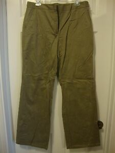 Women's NWT ANN TAYLOR Audrey green pants, 14