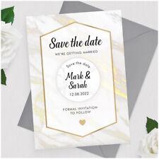 Corazón Oro Moderno Personalizado Boda Save The Date Tarjetas Imanes para refrigerador único