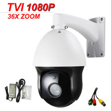"6"" CCTV Security HD TVI 1080P High Speed Dome PTZ Camera 2.0MP 36X ZOOM IR 150M"
