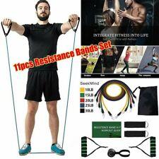 11Pcs/Set Resistance Bands Exercise Yoga Crossfit Fitness Training Tubes Set