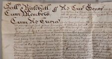 1677 ENGLISH VELLUM DOCUMENT Signed Justice Thomas Newman * WILL of George Bell
