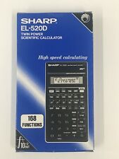 Sharp EL-520D Scientific Vintage Pocket & Desk Desktop Office School Calculator
