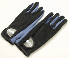 Deep Sea Blue/Black Diving Gloves. New.  Small, Rubberized Palm, Suede Back. Vel