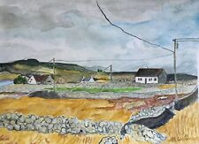 ROSAVEEL Ros a Mhíl County Galway Ireland Watercolor Painting 10x14 Sullivan