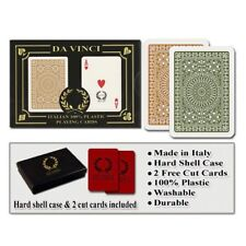 Da Vinci Casino Club Brown/Green Narrow Regular Index Playing Cards