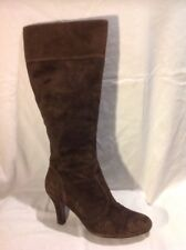 Ken Brown Knee High Suede Boots Size 40