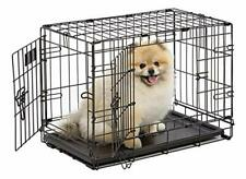 Dog Crate MidWest iCrate XS Double Door Folding Metal Dog Crate with Divider ...