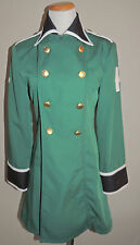 WOMENS COS MONDE GREEN POLY BLEND DOUBLE BREASTED COAT