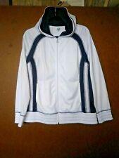 SB Active women's track jacket Sz Large L jogging jacket hoodie White Navy Blue