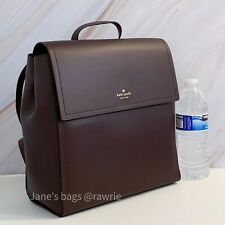 NWT Kate Spade Somerville Road Megyn Leather Backpack Chocolate Cherry WKRU3136