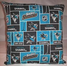Sharks Pillow San Jose Sharks Pillow NHL Handmade in USA