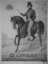 PUBLICITÉ 1936 D'ORSAY CRÉATEUR DES 3 CÉLÉBRES PARFUMS LE DANDY TROPHÉE MILORD