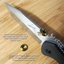Kershaw Emerson CQC-1K 2K 3K 4K 5K 6K 7K 8K Knife Titanium Thumb Disc - BRASS