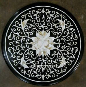 21 Inches Marble Coffee Table Top with Peitra Dura Art Royal Living Room table