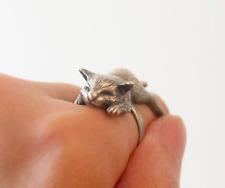 Sleeping Cat Wrap Around Ring