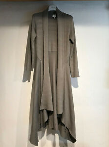 armani collezioni ribbed long cardigan Italian with belt tie size 42 uk size 10