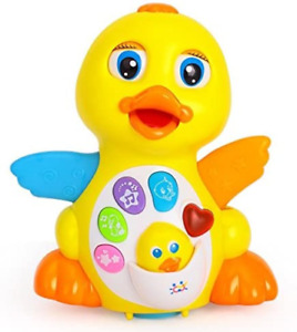 Early Education 18 Months Old Baby Toy Musical Dancing Duck Toy Lights Action &