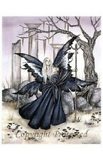 Amy Brown Fairy faery Print 11x17 Twilight in the Temple of the Moon Signed Rare