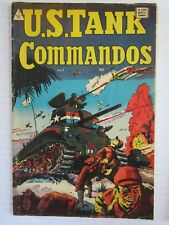 RARE U.S. TANK COMMANDOS #1-VG-I.W. PUBLISHING 1952-BATTLE COVER-KOREAN WAR