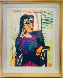 """PABLO PICASSO """"Dora Maar Seated"""" Limited Edition Colour Giclee"""