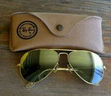 VTG Ray-Ban Sunglasses Gold Tone Frame With Case Aviator Outdoorsman 58 14