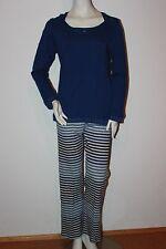 "Triumph Pyjama Schlafanzug ""Dots and Stripes AW16 PK LSL"" Gr. 38 blau Longewear"