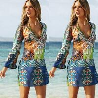 Sexy Women Chiffon Dress V-Neck Bikini Swimwear Cover Up Bath Suit Beach Dresses